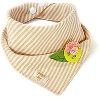 リーフ&イエローbaby-girl-boys-kids-cotton-triangle-head-scarf-bandana-bibs-saliva-towel-dribble