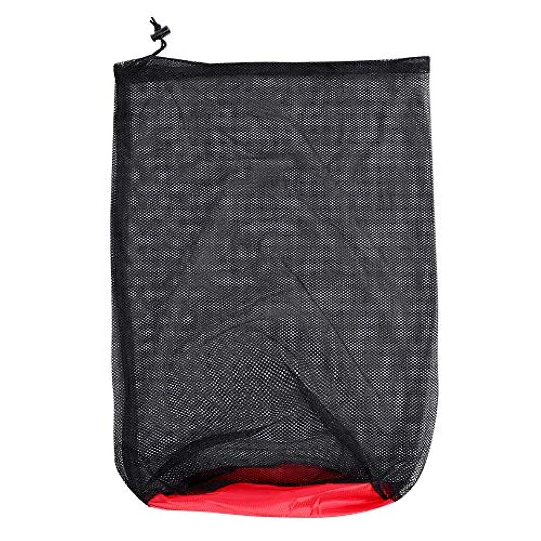 質量定説あまりにもメッシュ収納バッグ アウトドア ナイロン 圧縮 寝袋収納 ポーチ サック キャンプ用 ハイキングバッグ