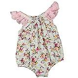 Ochine 春夏 ベビー服 ロンパース 新生児 カバーオール ベビー 異彩な花柄 レース 夏 袖なし 出産祝い