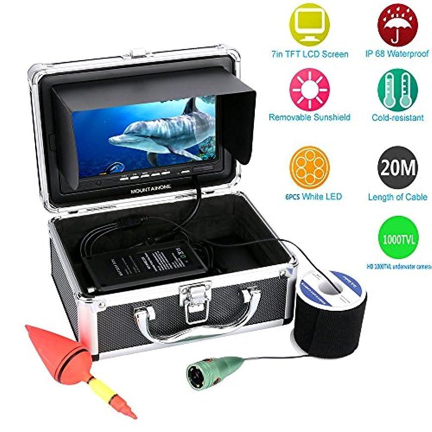 摩擦血まみれのクリップ蝶1000tvl水中釣りビデオカメラキット6 PCS LEDライトwith7インチカラーモニター