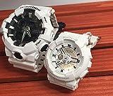 カシオCASIO 腕時計 G-SHOCK&BABY-G ペアウォッチ 純正ペアケース入り ジーショック&ベビージー 2本セット ホワイト 白 アGA-700-7AJF BA-110-7A3JF