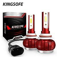 LED 車用 ヘッドライト 電球 キット FidgetFidget 2PCS 9-36V 36W 3800(1900LMx2) 6000K H1 / H4 / H7 / H11 / 9005/9006車のCOBフォグLED電球 (白色光 9005 / HB3 / H10)