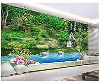 Mingld カスタム壁紙リビングルームの寝室の背景3D壁紙緑山緑水3Dテレビの背景の壁の壁紙-200X140Cm
