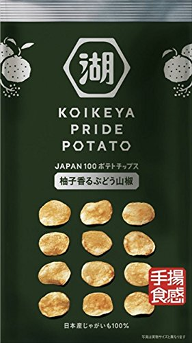 湖池屋 KOIKEYA PRIDE POTATO 手揚食感 柚子香るぶどう山椒 60g×12袋