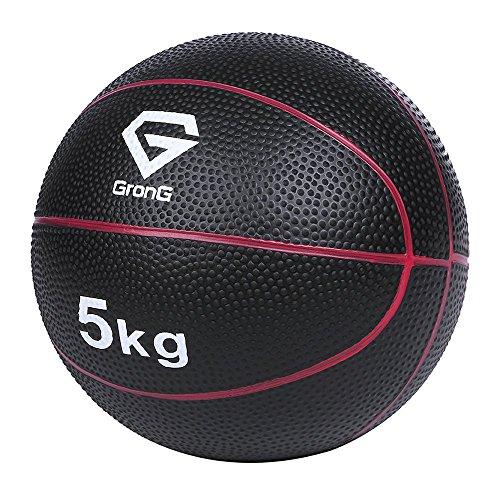 GronG(グロング) メディシンボール 5kg トレーニングマニュアル付き(島袋好一トレーナー監修) 非バウンドタイプ