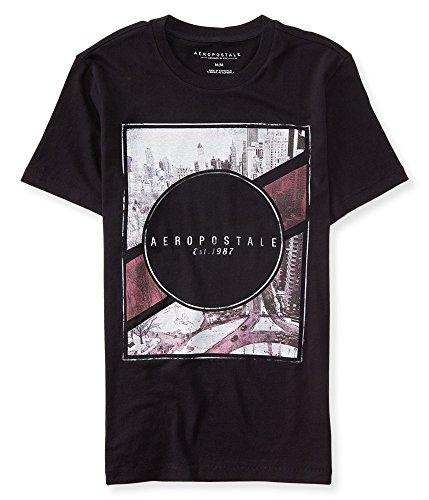 (エアロポステール)AEROPOSTALE 半袖Tシャツ Free State City Triangle Graphic T ブラック Black (M) [並行輸入品]