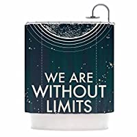 "KESS InHouse Sam Posnick We are without Limits Blue Typography Shower Curtain, 69"" x 70"" [並行輸入品]"