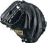 ZETT(ゼット) 野球 軟式 捕手用 ミット デュアルキャッチ ブラック BRCB34612 1900 RH