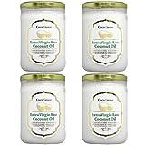 エキストラバージン ココナッツオイル 【4本セット】 USDA・EURO認証食品 500mlガラス瓶使用 (内容量:430g)