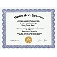 Fractals Degree: Custom Gag Diploma Doctorate Certificate (Funny Customized Joke Gift - Novelty Item) by GD Novelty Items [並行輸入品]