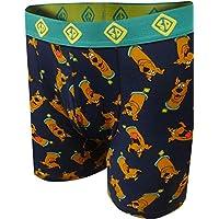 Underboss Men's Scooby Doo Heads Print Boxer Briefs