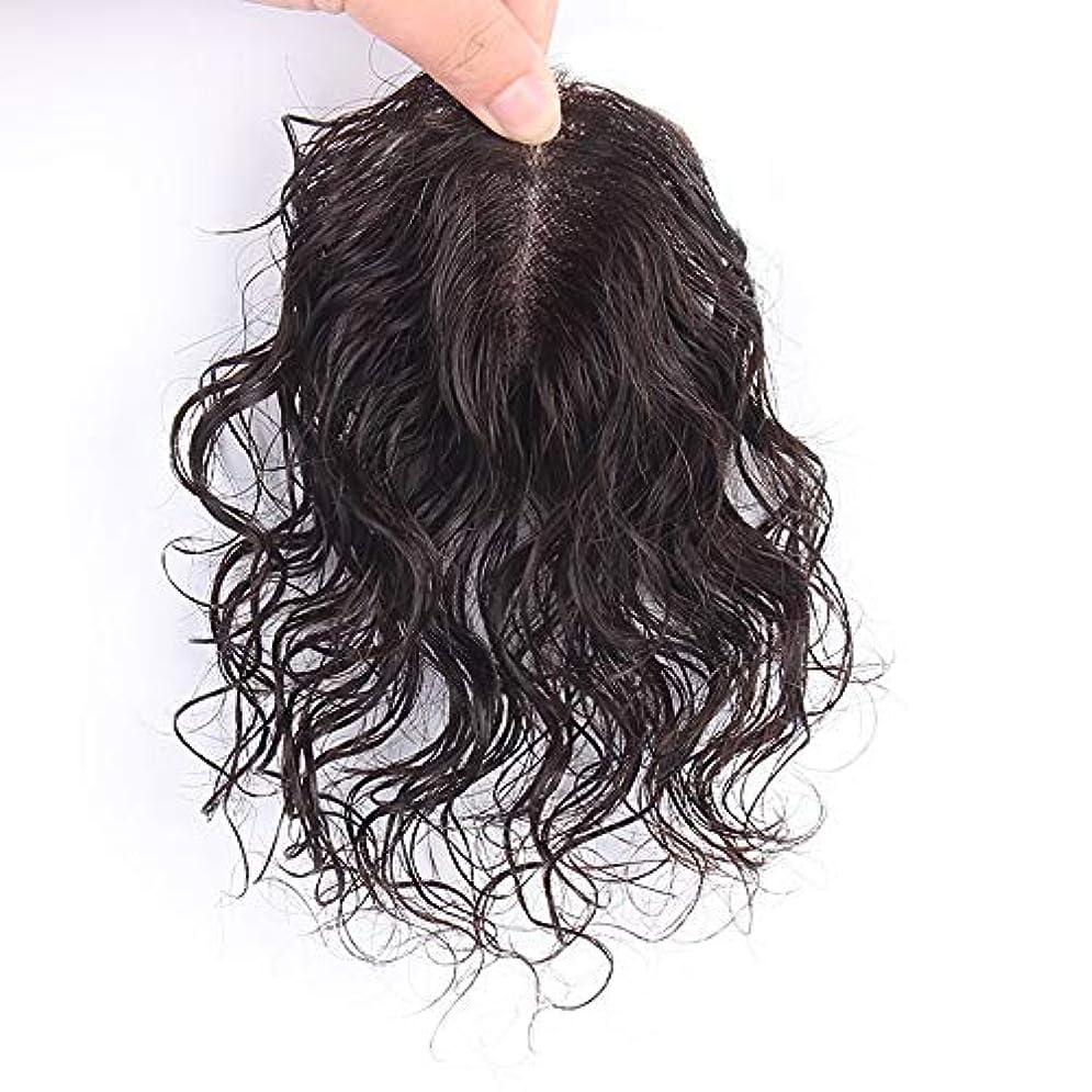 労働愛する振動させるWASAIO スタイル置換拡張のためのヘアアクセサリーのフルハンド織りリアルロングカーリー波状クリップレディースファッションチョイス (色 : Dark brown, サイズ : [7x10]30cm)