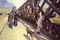 カイユボット・「ヨーロッパ橋」 プリキャンバス複製画・ ギャラリーラップ仕上げ(6号サイズ)