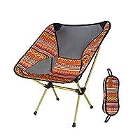 Anordsem アウトドアチェア ビーチ 椅子 コンパクトイス 椅子 キャンプ椅子 折りたたみ 超軽量 耐荷重150kg 収納バッグ付き お釣り 登山 旅行 ピクニック レジャー キャンプなど用 オレンジ色