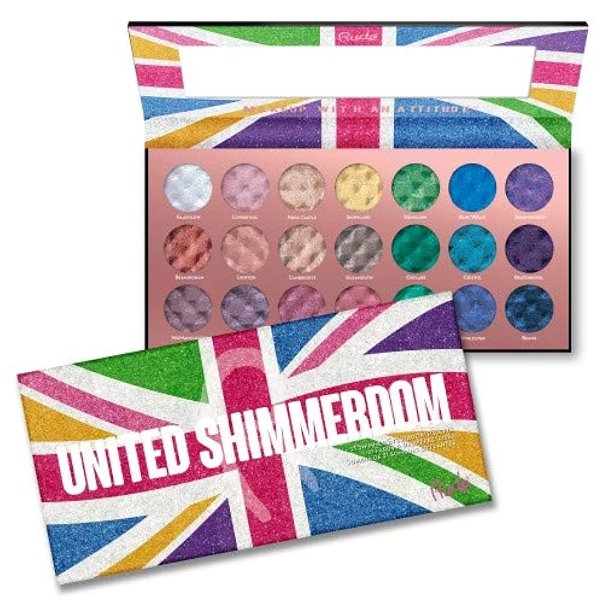 (6 Pack) RUDE United Shimmerdom - 21 Shimmer Eyeshadow Palette (並行輸入品)