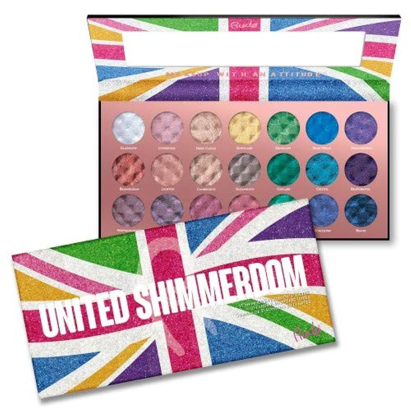 神秘的なフェザー入り口RUDE United Shimmerdom - 21 Shimmer Eyeshadow Palette (並行輸入品)