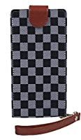【完全受注生産】 SAMSUNG サムスン Galaxy S7 edge SC-02H docomo スマホ カバー ケース 手帳型 (PU レザー 合皮) ブックタイプ ダイアリー マグネット チェック柄 ブラック ホワイト かっこいい かわいい 人気 オシャレ