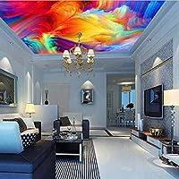 Weaeo 3Dカラーパレットの眺め抽象的な天井の壁画壁画のプリント写真の壁画デカール壁のアートインテリアリビングルームの屋内カスタム-150X120Cm