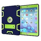 iPad Air2(iPad 6世代)/iPad pro9.7インチ スマートケース カバー スタンド付き 極頑丈 耐衝撃 防塵 シリコン保護カバー