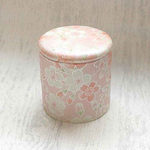 ミニ骨壷2寸 桜ころも シリコンパッキン付分骨用骨壷 (ピンク)