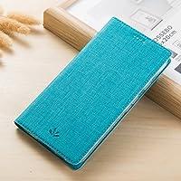 ZenFone Live ZB501KL ケース, CHENXI 布調 高級PUレザー 横開 手帳型 TPU耐衝撃 保護ケース 財布型 収納ポケット付きクレジットカードスロットスタンド機能 専用カバーために Asus ZenFone Live ZB501KL (5.0 Inch) ブルー