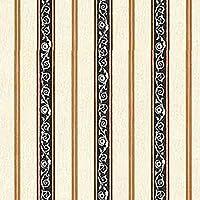 Dollhouse Wallpaper French Kitchen Black Stripe
