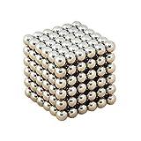IMICHAEL マジック磁石 教育工具 DIY工具 ネオジム磁石の立体パズル 216個セット (銀)