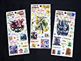 パズドラ パズル&ドラゴンズ ぷっくり シール 3種類 セット