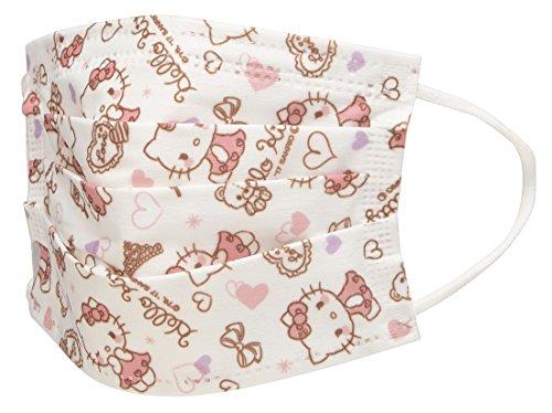 不織布 マスク 子供用 女性用 10枚入 ハローキティ サンリオ MSKP3