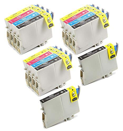 Aria Supplies 交換用インクジェットカートリッジ 14個パック 再生 Epson T060#60 T060120 T060220 T060320 T060420 Stylus C68, C88, C88Plus, CX3800, CX3810, CX4200, CX4800, CX5800F, CX7800