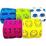 sesta7 ペットフレックス 粘着包帯 バンテージ ペット 犬 猫 伸縮 防水 不織布 5点セット