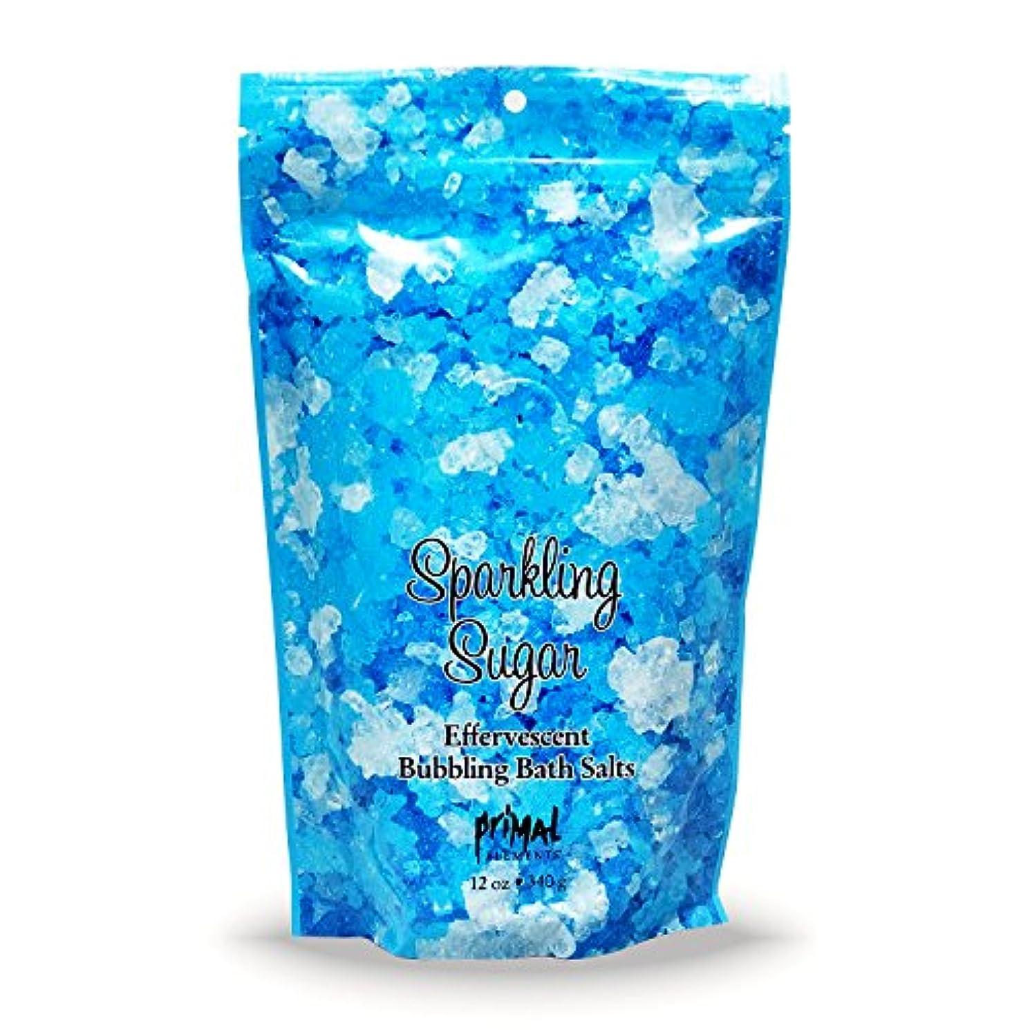 寛容歯科医生産性プライモールエレメンツ バブリング バスソルト/スパークリングシュガー 340g エプソムソルト含有 アロマの香りがひろがる泡立つ入浴剤