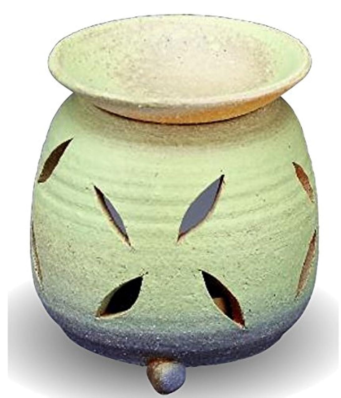 チャンバー多様性有毒な常滑焼 茶香炉(アロマポット)径10×高さ11.5cm