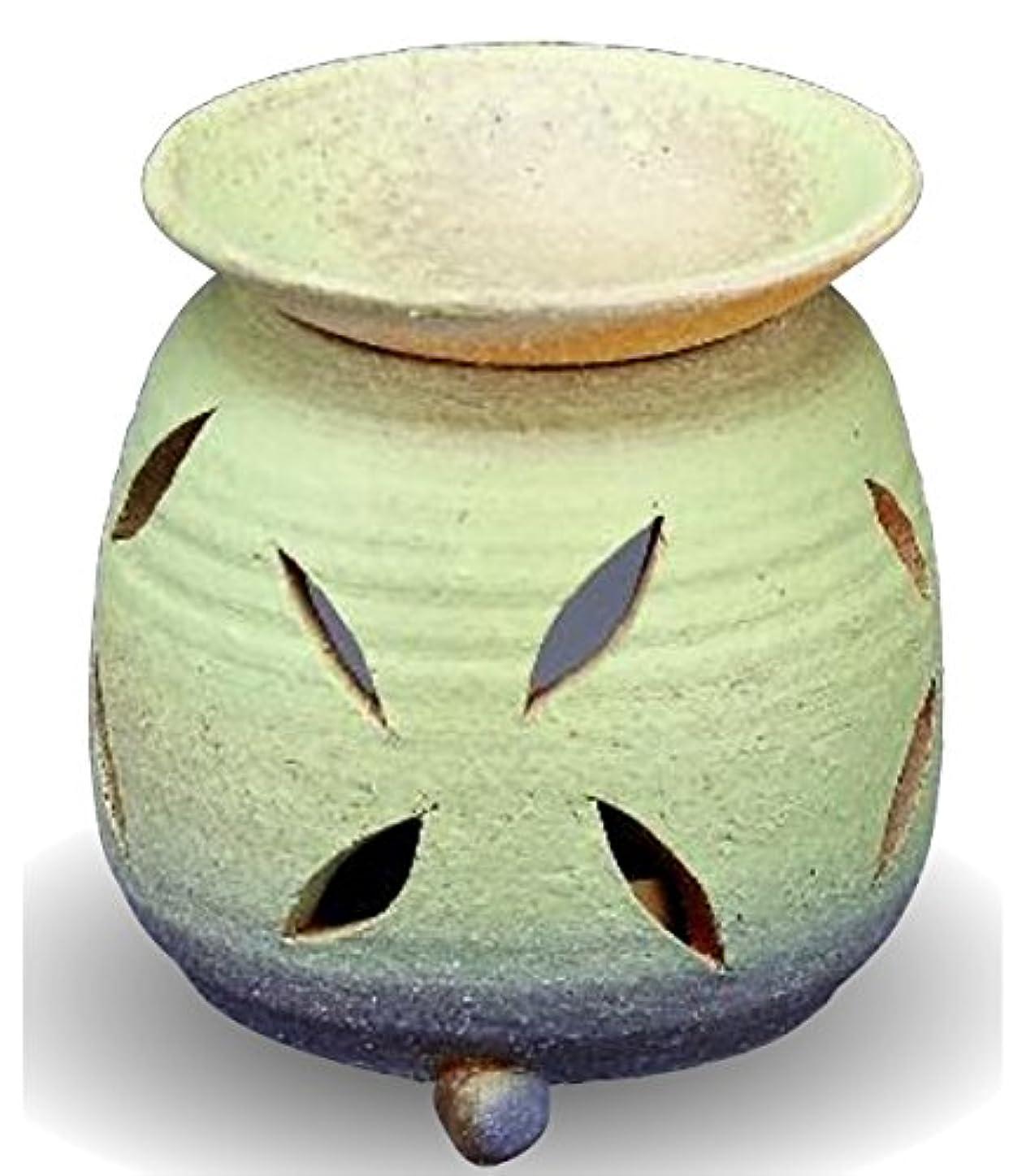 失礼な退屈させるクラッシュ常滑焼 茶香炉(アロマポット)径10×高さ11.5cm