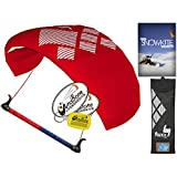 hq4 Fluxx 1.3 MトレーナーKite TR Plus Snowkiting DVDバンドル( 4 Items ) Includes How to Snowkite Instructional DVD + WindBone Kiteライフスタイルデカール+ WindBoneキーチェーン:雪Kite Foil Traction