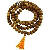 Tibetan Zen Buddhist Wooden 108 Yoga Meditation Mala Prayer Beads, 12mm