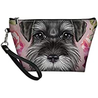 UNICEU Schnauzer Dog Print Cosmetic Bag for Travel Outdoor Carrier Portable Toiletry Pouch Foldable Makeup Storage Purse Multifunctional Organizer