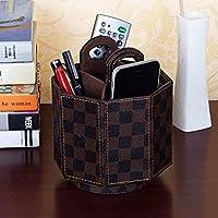 WTL かご?バスケット 革の収納ボックスの家のデスクトップの破片の収納ボックス (色 : A, サイズ さいず : 14.5*13.5cm)