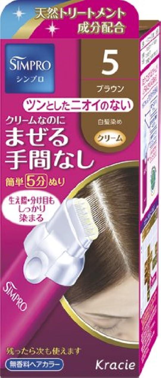 負担天使記述するシンプロ ワンタッチ無香料ヘアカラー 5