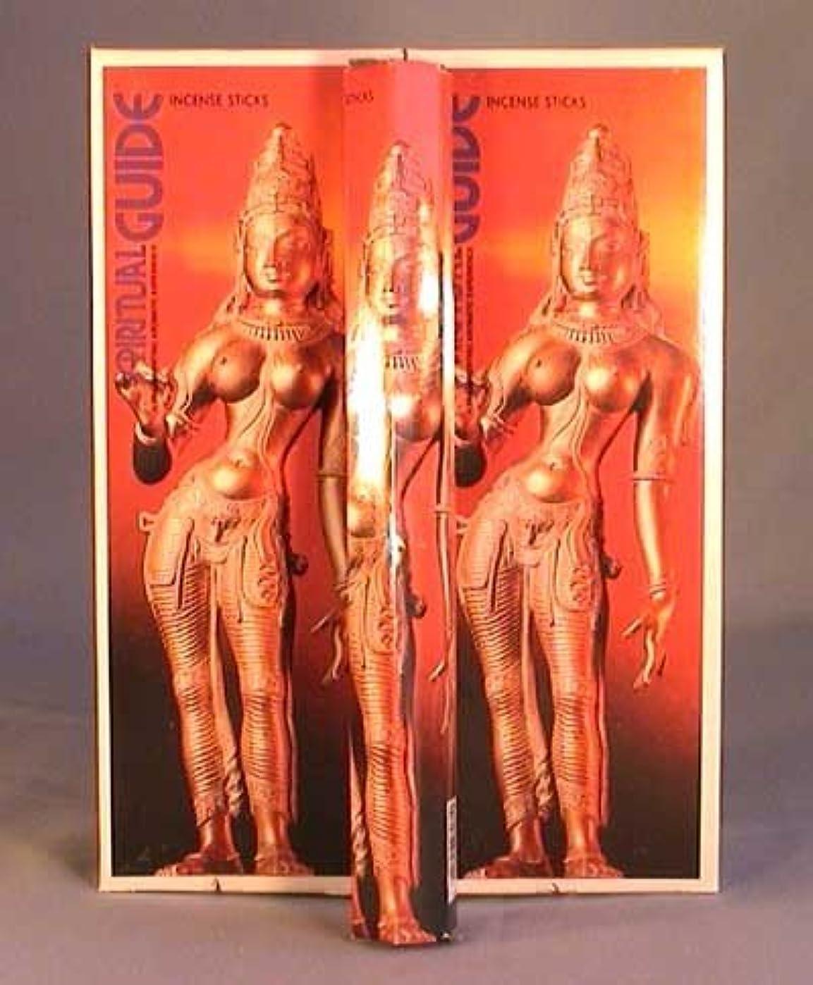 蓋後ろ、背後、背面(部キノコSpiritual Guide – ボックス6つの20グラム六角チューブ – Padmini Incense