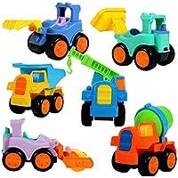 actlati 6個パック幼児キュート教育玩具漫画エンジニアリング建設車Dieキャスト車モデルトラックセット