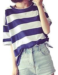 (フムフム) fumu fumu レディースファッション Tシャツ 春 夏 トップス 5分袖 ボーダー