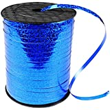 500 Yards Shiny Blue Curling Balloon Ribbon,3/16-Inch Balloon String Gift Wrapping Ribbon Perfect for Birthday Weddings Party