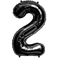 プレミアムレターバルーン ブラック 「2」 34インチ(約90cm)