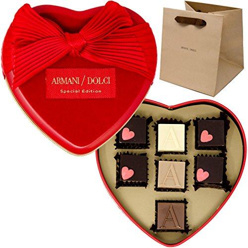 アルマーニ ドルチ ARMANI DOLCI サン ヴァレンティーノ プラリネ チョコレート 7個入り セット バレンタイン ギフト ショップバッグ付き
