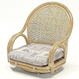 籐回転座椅子