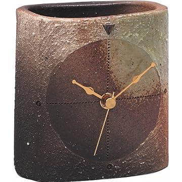 信楽焼 樹 置時計