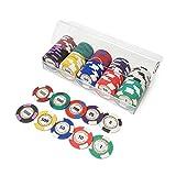 Yapeer ポーカーチップ ゲーム用 本格カジノ 100枚セット ケース入り 14g (10種類)