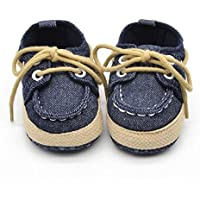 FEITONG Baby Infant Kid Boy Girl Soft Sole Sneaker Toddler Shoes (3, Dark Blue) by FEITONG