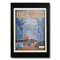 ハワイアンポスター フラガールシリーズ F-123 「HULA BLUES Cover Art By Marry Frances Kidder」 サイズ:29×21.5cm